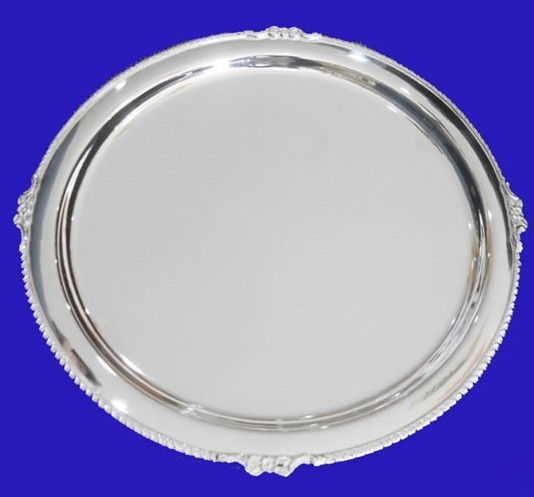 Silver Plated Round Shaped Plate, 13 inches