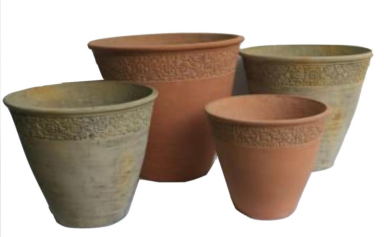 Decorative 35cm Height Cement Pots