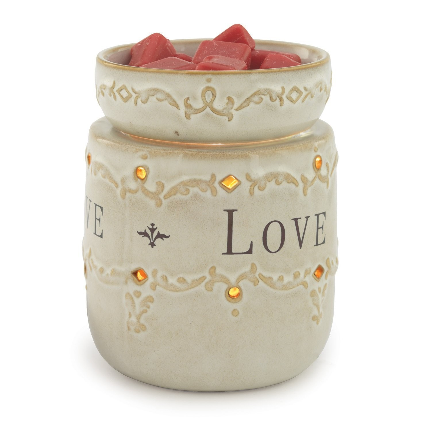Decorative Ceramic Illumination Candle Warmer Set of 2 Pcs