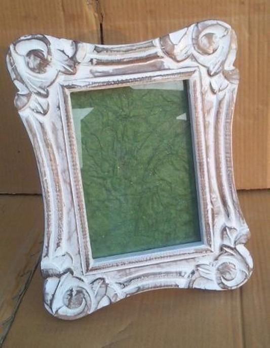 7''x 5'' Decorative Curved  Whitewashed Photo Frame