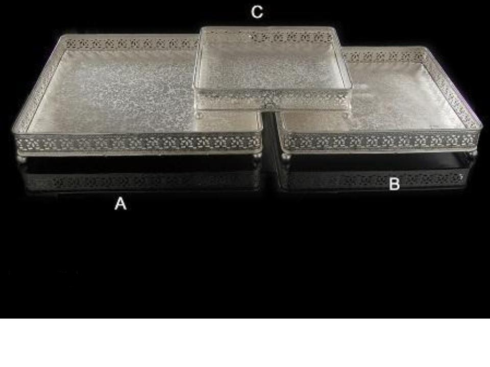 Deep  Square Silver Plated Tray (A)