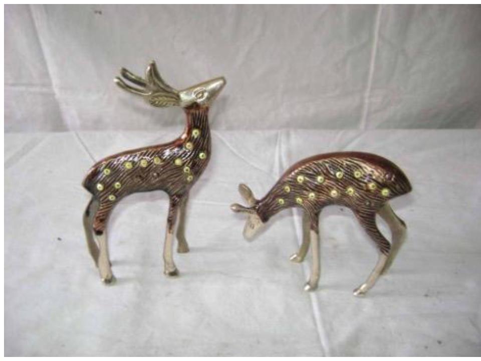 """Deer Pair Antique Work 6"""""""