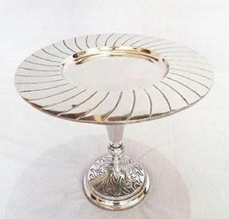 Designer Metal Plated Aluminum Cake Stand
