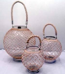 Designer Glass Hurricane,   Size-35x39 cm