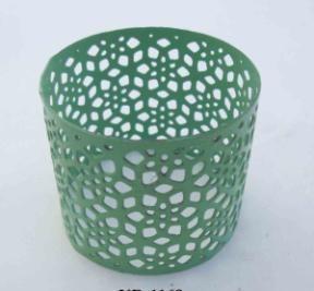 Iron Napkin Ring cutting design green Finish