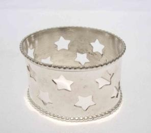Silver Iron Napkin Ring With Silver Brass Finishing