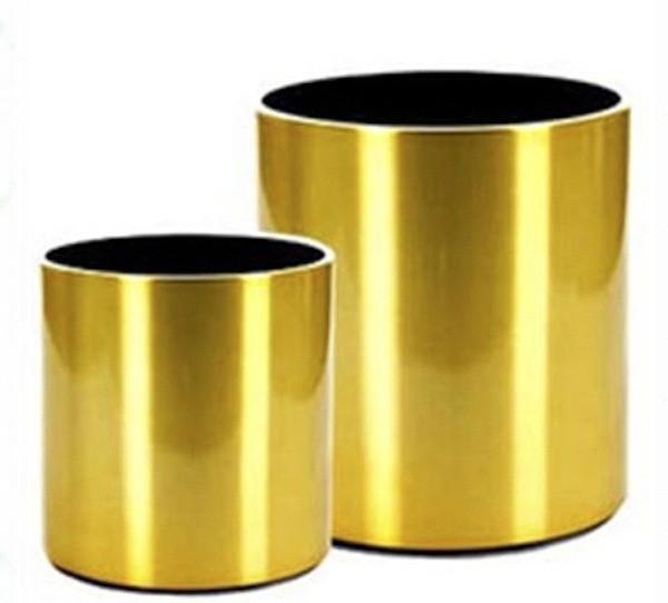 Circular  Planters (GOLD)  Size  18 cm * 15 cm