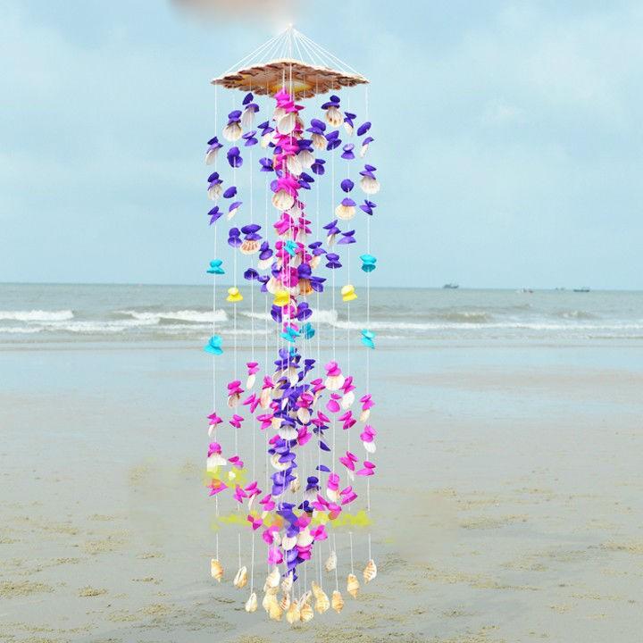 Double Heart Conch Seashell Windchime