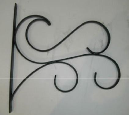 """Designer Scrolled Hanging Basket Bracket 10.5"""" L x 10.75"""" H"""
