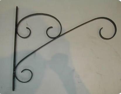 """Black Scrolled Hanging Basket Brackets 14.5"""" L x 12"""" H"""
