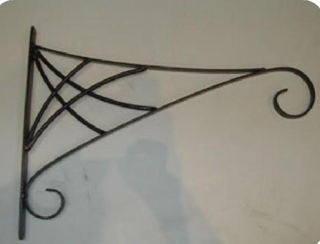 """Black Designer Hanging Basket Bracket 6"""" L x 12"""" H"""