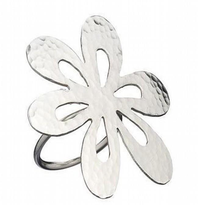 3 Inch Metal Brass Flower Napkin Ring