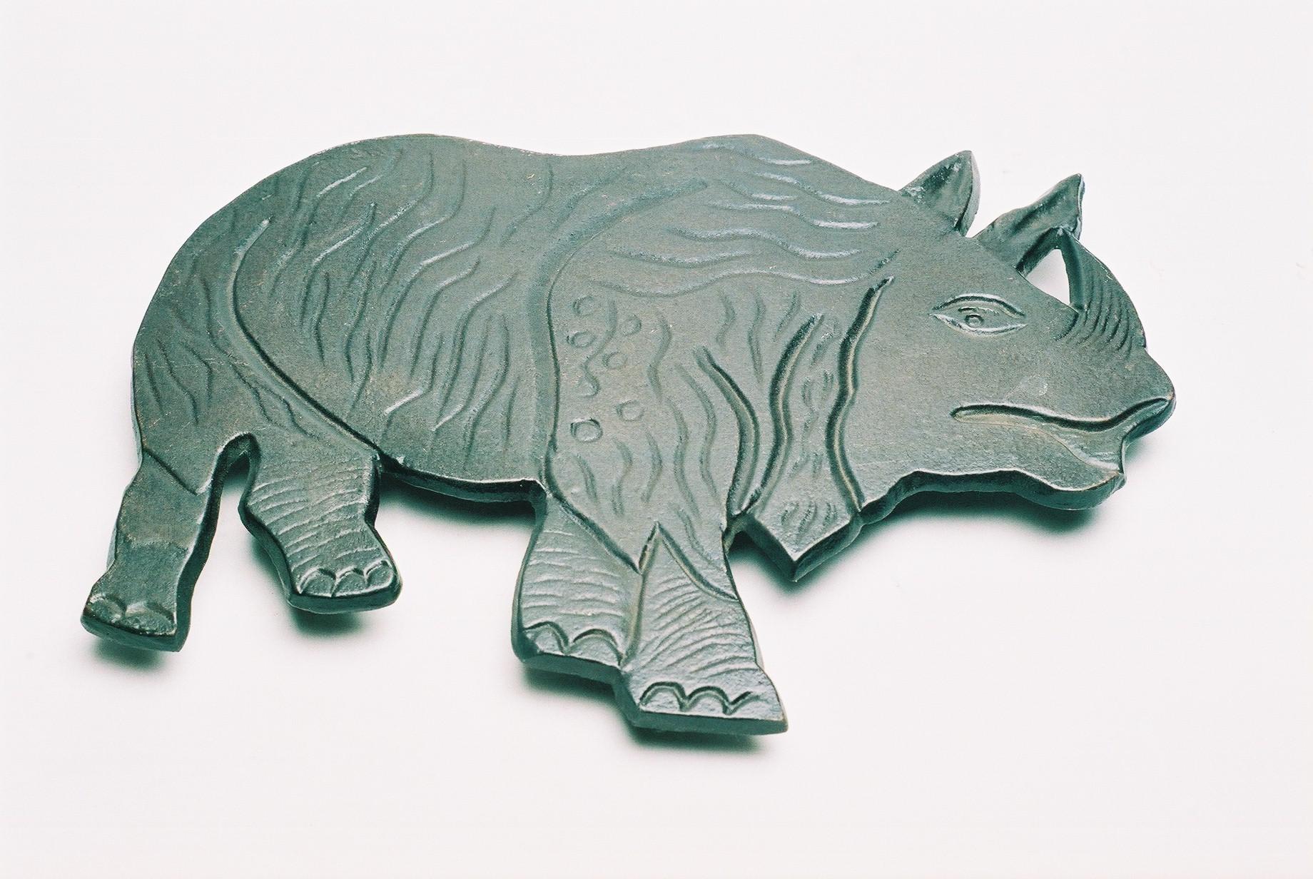 Aluminum Rhino For Wall Decor