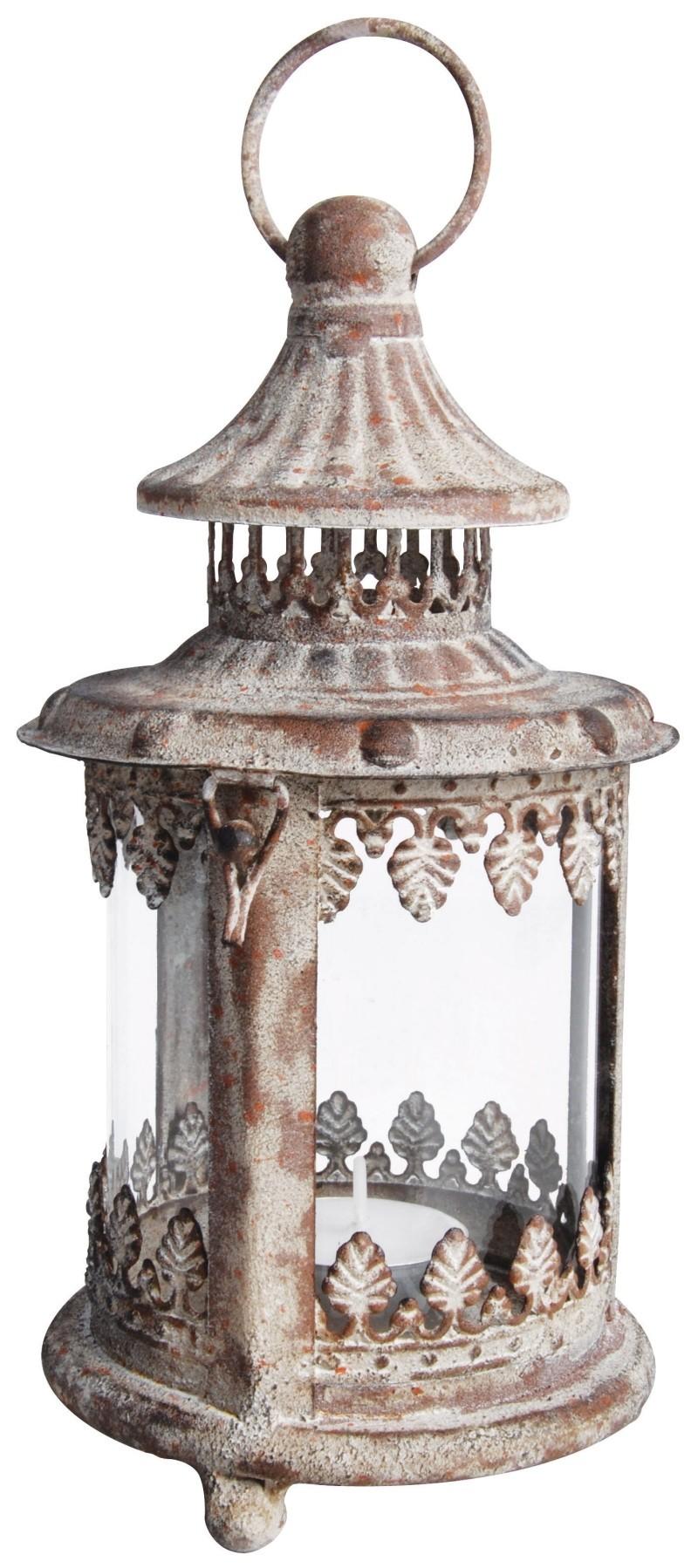 Antique Metal Glass Lantern
