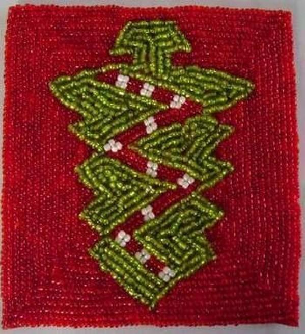 Beaded Christmas Tree Costar Set of 6 Pcs