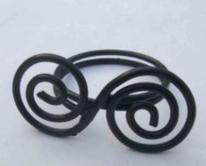 Black Color Iron Wire Napkin Ring