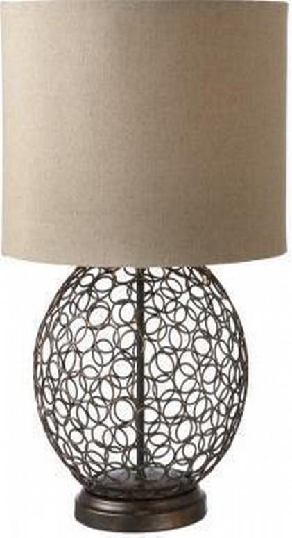 Black Powder Coated Circle Table Lamp