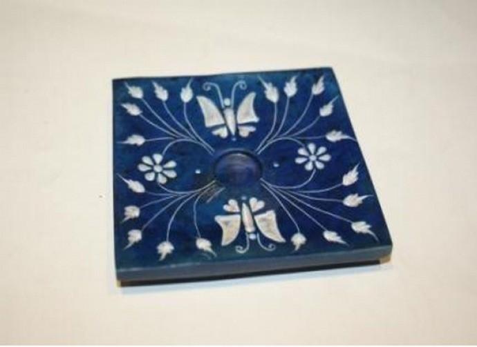 Blue Butterfly Incense Stick Holder