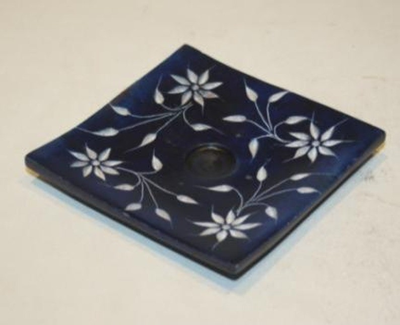 Blue Incense Burner Holder