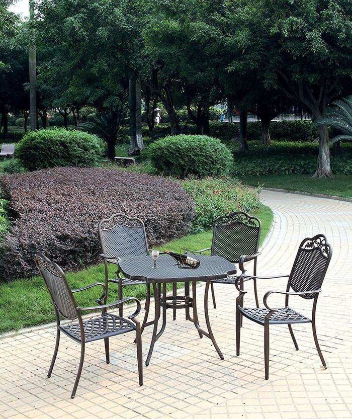 Coffee Brown Stylish Aluminum Chair
