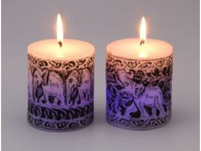 color changing Led candles With Elephant Design