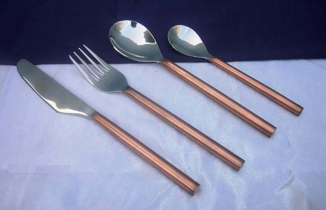 Copper plating Spoon Set