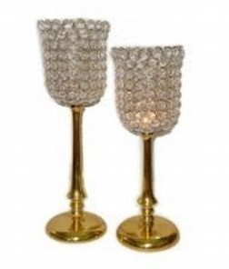 Crystal Aluminum Candle Holder