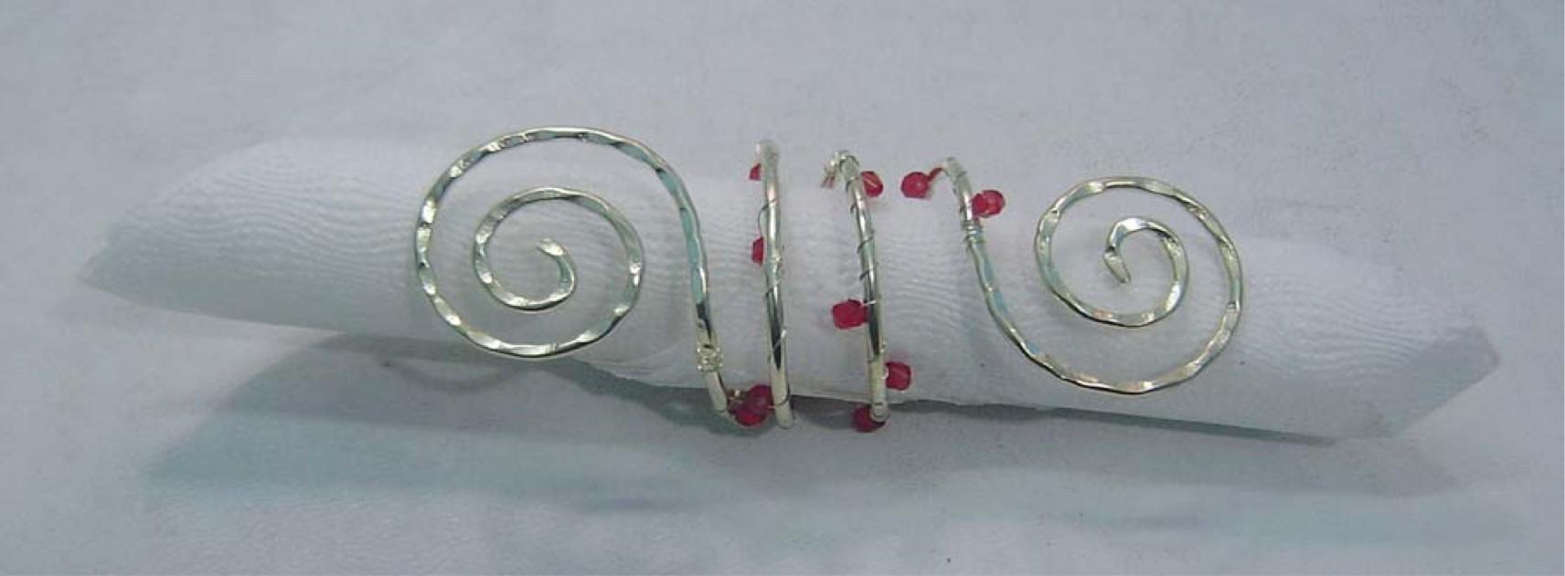 Decorative Brass Napkin Ring