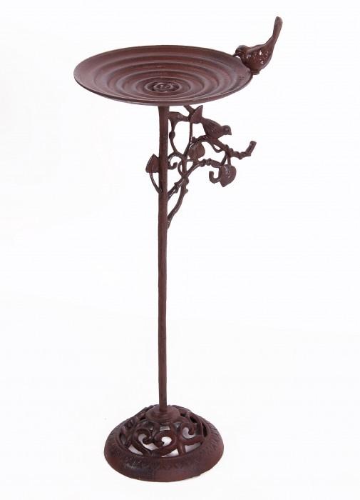 Decorative Cast Iron Elegant Design Bird Bath