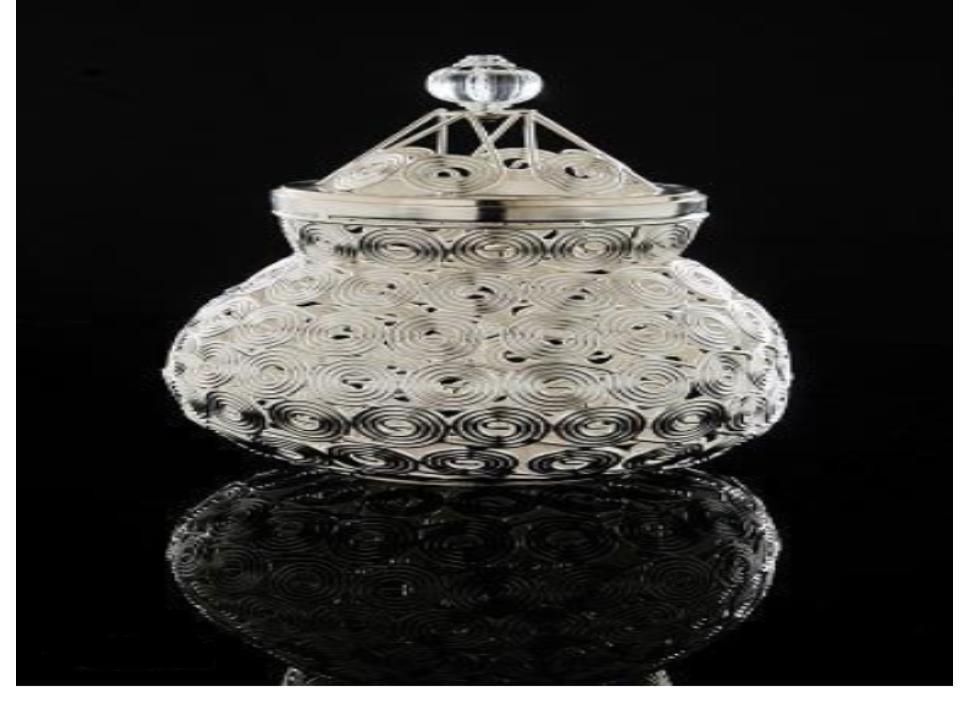 Decorative Circular Design Jar