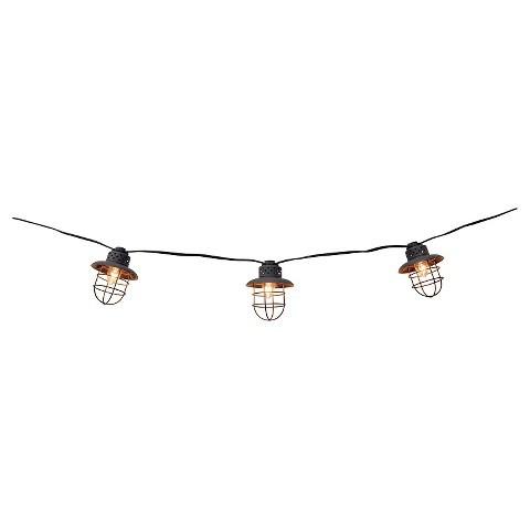 Decorative Metal Cage String Lights Set