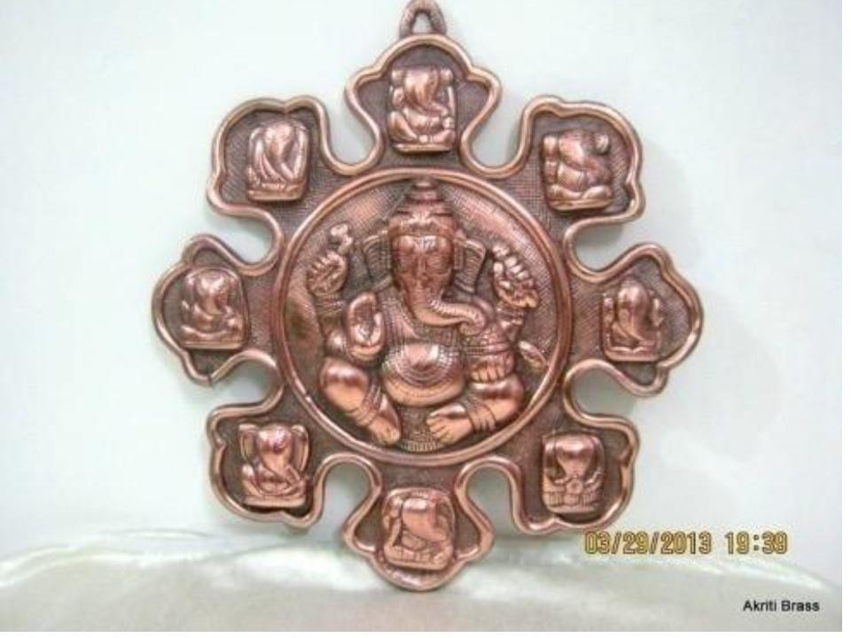 Decorative Metal Ganesh Idol 10""