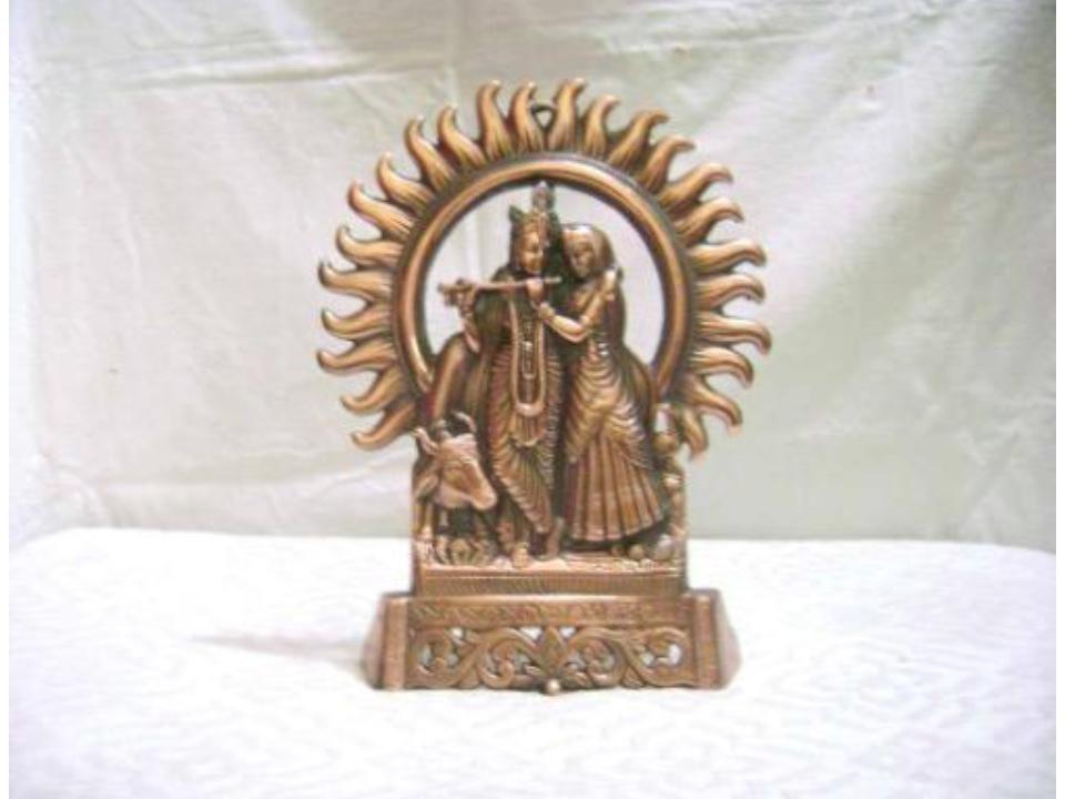 "Decorative Radha Krishna Idol 10"""