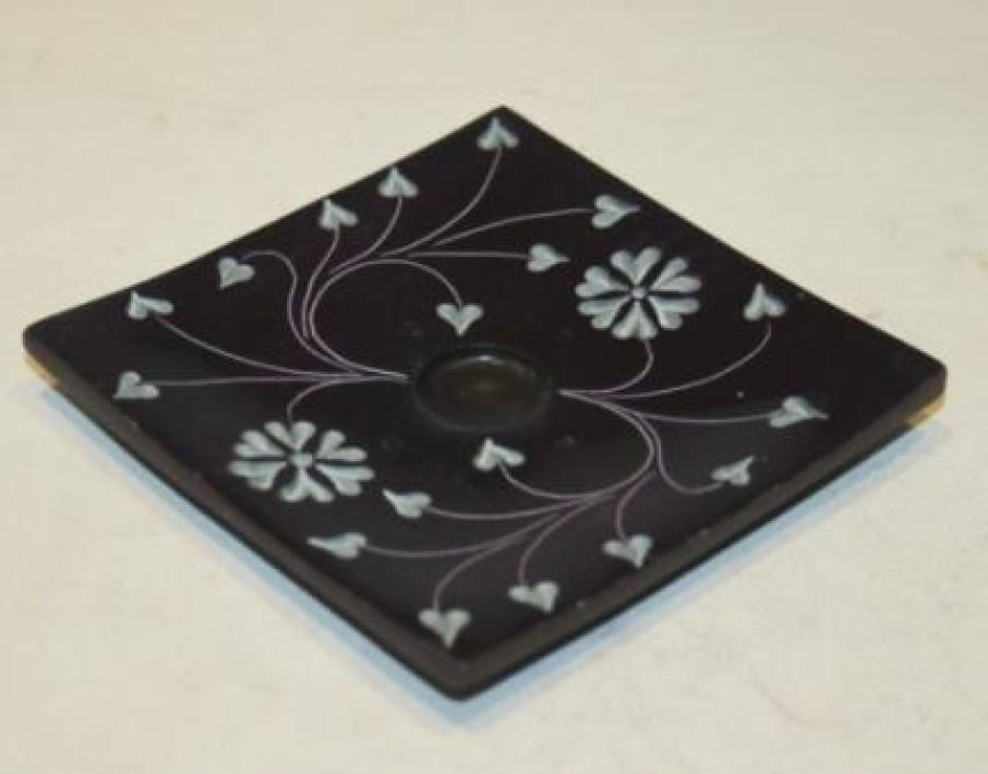 Designer Black Incense Burner Holder