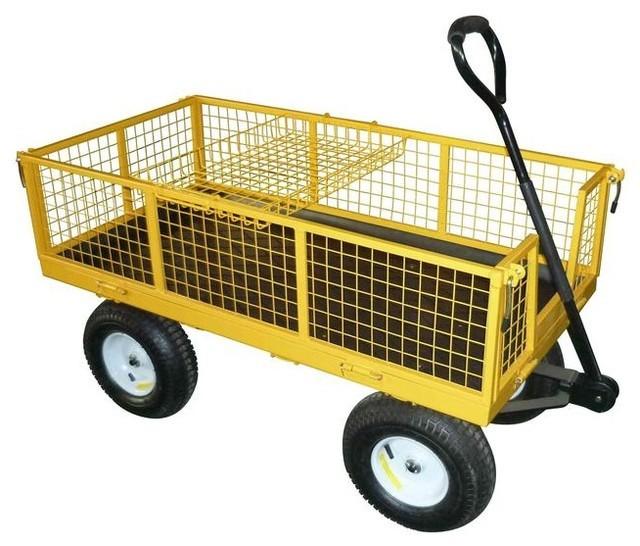 Durable Steel 4-Wheeled Wheel Barrow