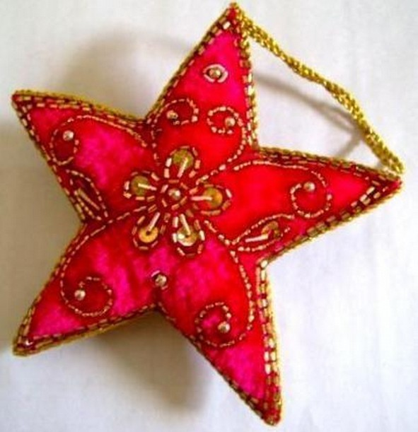Embroidery Hanging Christmas Star 4X4 Inch