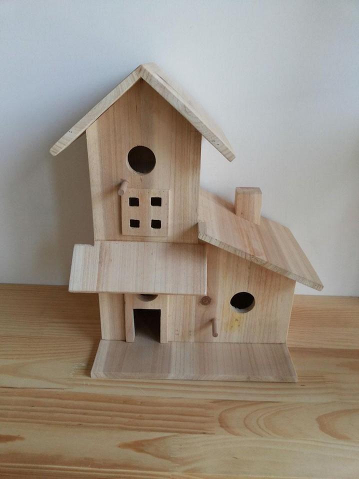 Fir Wood Unique Style Wooden Bird House