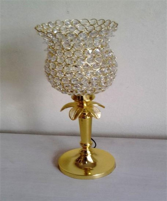 Flower Shape Crystal Decorative Lamp