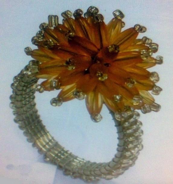 Glass Beads Napkin Ring