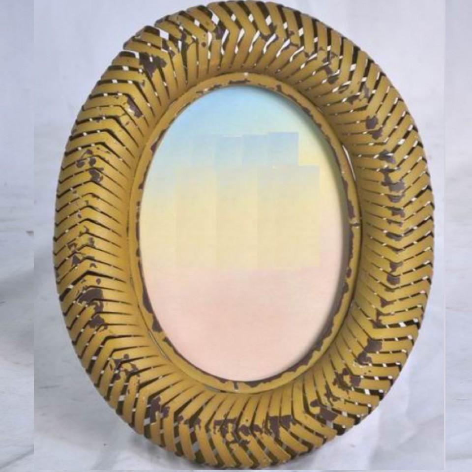 Yellow Decorative Metal Photo Frame