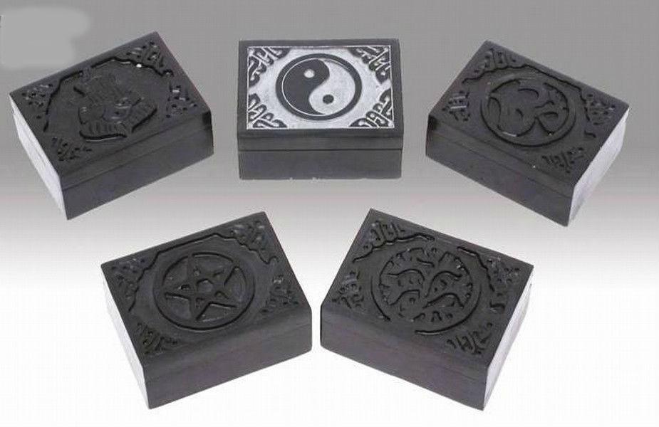 Grey Pentagram Blk Incense Burner