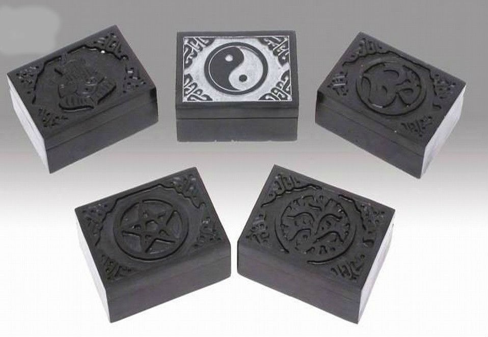 Grey Ying-Yang Blk Incense Burner