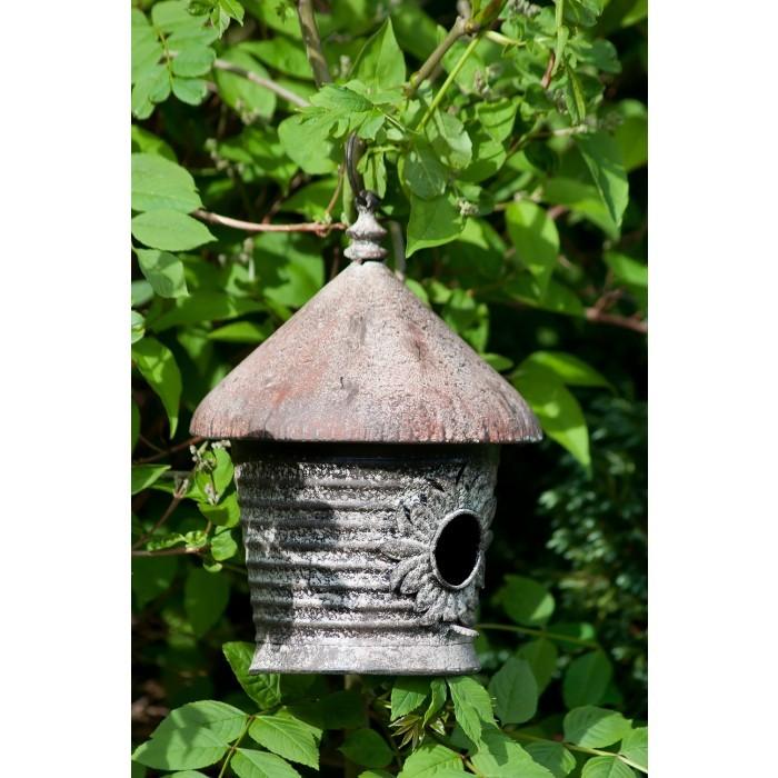 Hand Made Iron Rustic Finish Hanging Bird House