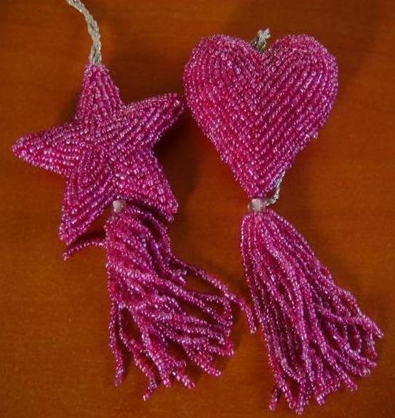 Hanging CHRISTMAS Heart/Star set of 2 Pcs