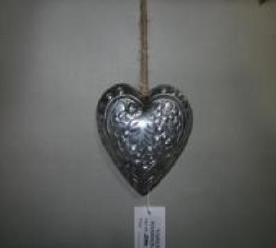 Heart Shaped Aluminium  Christmas Decor