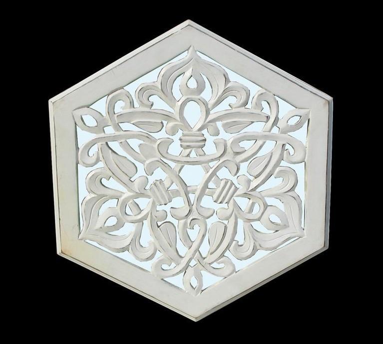 Hexagon Shape Mirror Panel