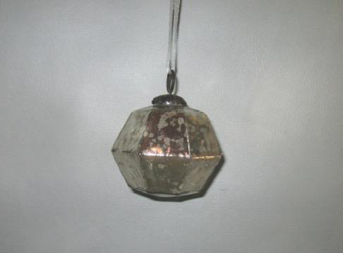 Hexagonal Glass Globe Hanging Christmas Decor