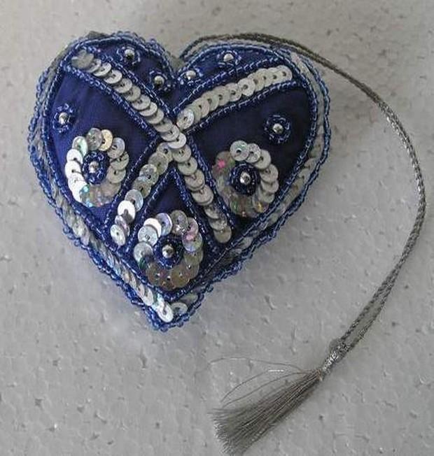 Jeri Hanging Christmas Heart 3.5x3.5 Inch