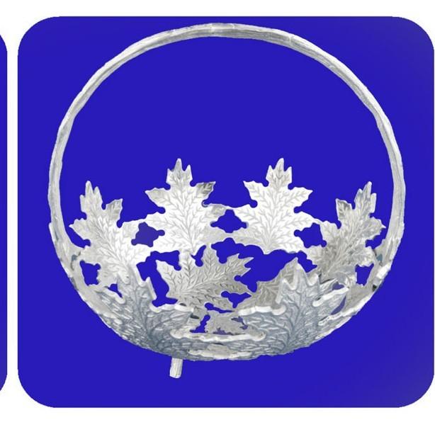 Leaf Shaped Basket, 14 Inches