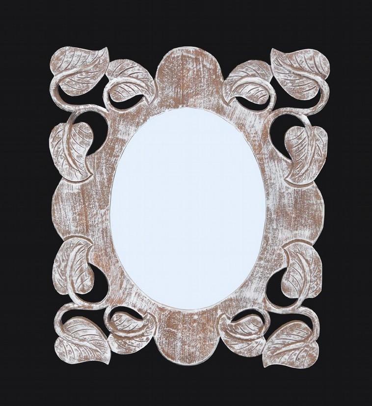 Leaf Wooden Mirror Frame
